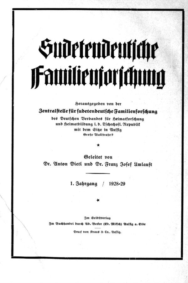 Titelblatt 1928