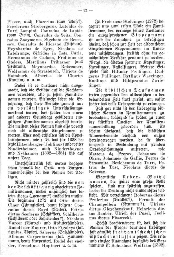 Entstehung der Familiennamen und Geschlechter in Böhmen - 4
