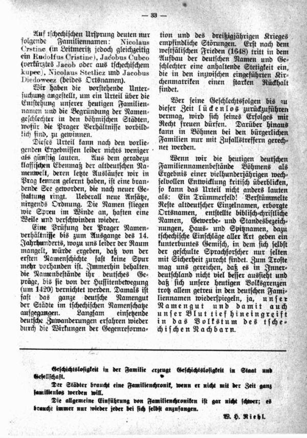 Entstehung der Familiennamen und Geschlechter in Böhmen - 5