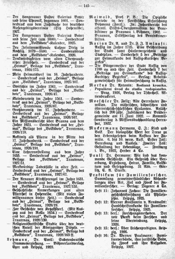 Bücher- und Zeitschrifteneinlauf für die Bücherei der Zentralstelle für Sudetendeutsche Familienforschung - 2