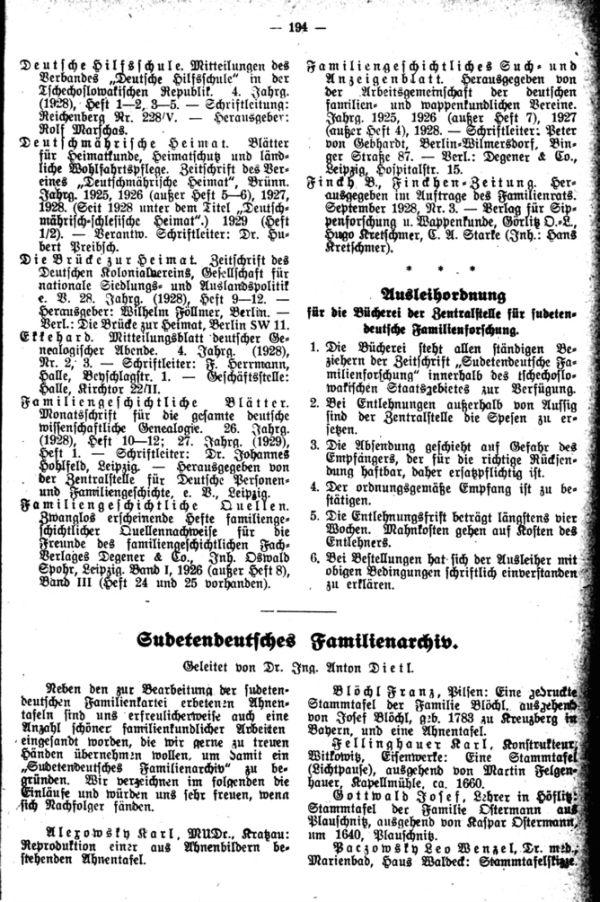Sudetendeutsches Familienarchiv