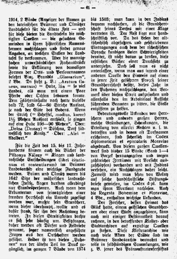 Geschichtlichesquellen der mährischen Heimat- und Familienforschung - 3