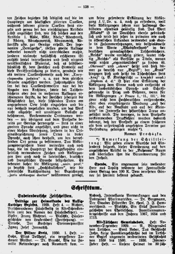 Sudetendeutsche Zeitschriften
