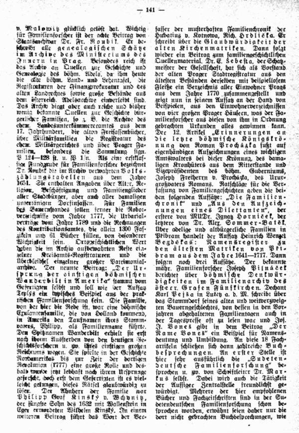Casopis Rodopisne Spolecnosti Ceskoslovenske v Praze (Zeitschrift der Tschechoslowakischen Genealogischen Gesellschaft in Prag) - 2