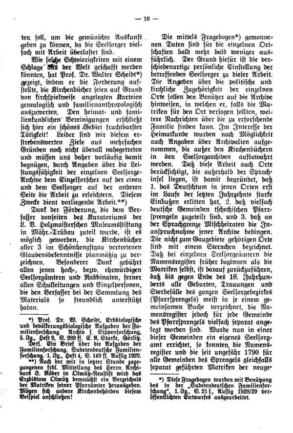 Die Kirchenbücher der Schönhengster Sprachinsel - 2