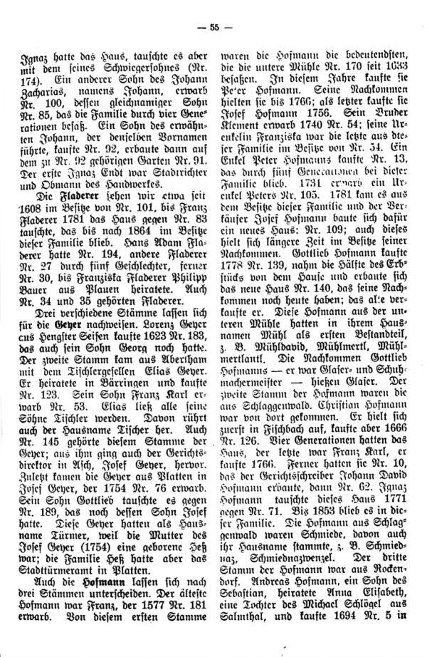 Charakteristische Namen aus Bäringen - 3