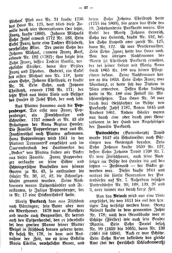 Charakteristische Namen aus Bäringen - 5