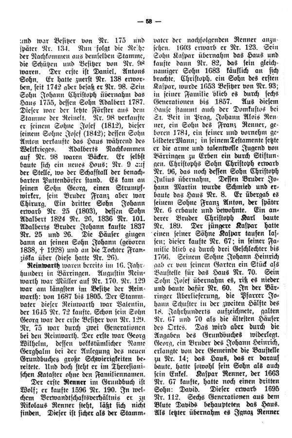 Charakteristische Namen aus Bäringen - 6