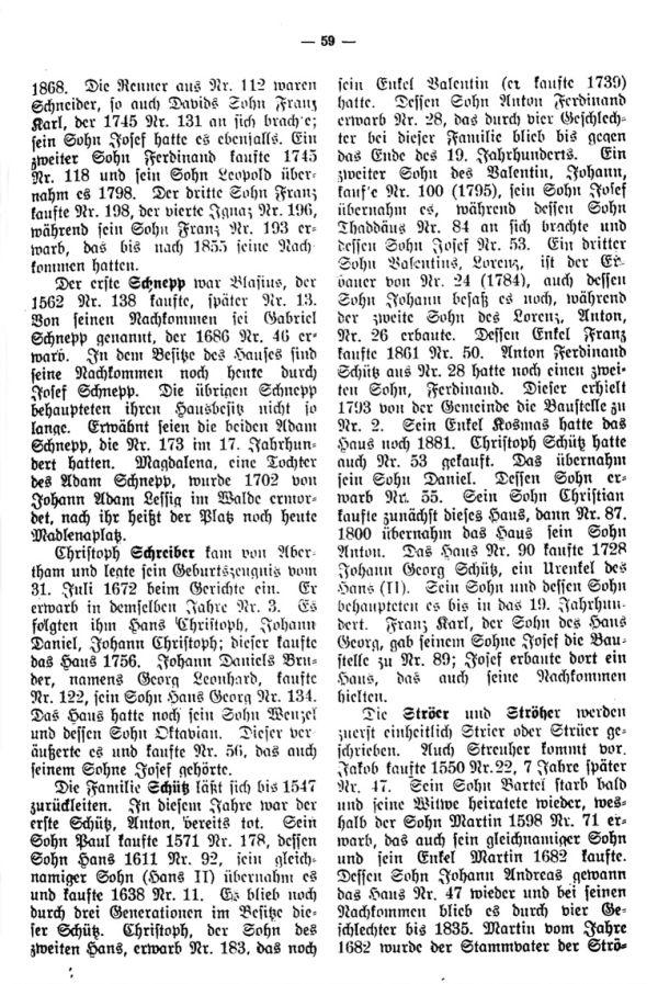 Charakteristische Namen aus Bäringen - 7