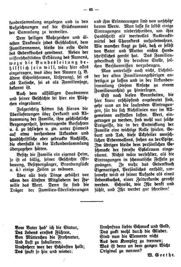 Die Deutung des Namens Eis - Geleitwort zum Familiengedenkbuche des Bundes d.D. in.B