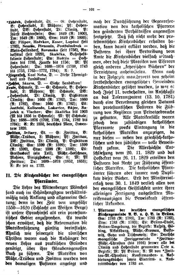 Die Kirchenbücher der Schönhengster Sprachinsel - 3