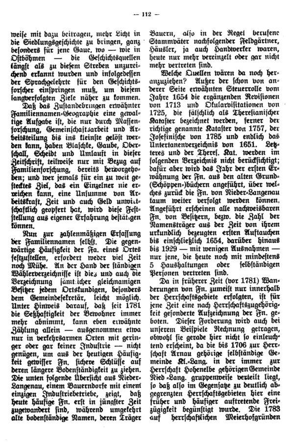 Familiennamen in Niederlangenau - 2