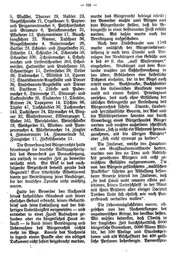 Olmützer Neubürger aus Böhmen, Mähren, Schlesien u. der Slowakei 1668-1848 - 2