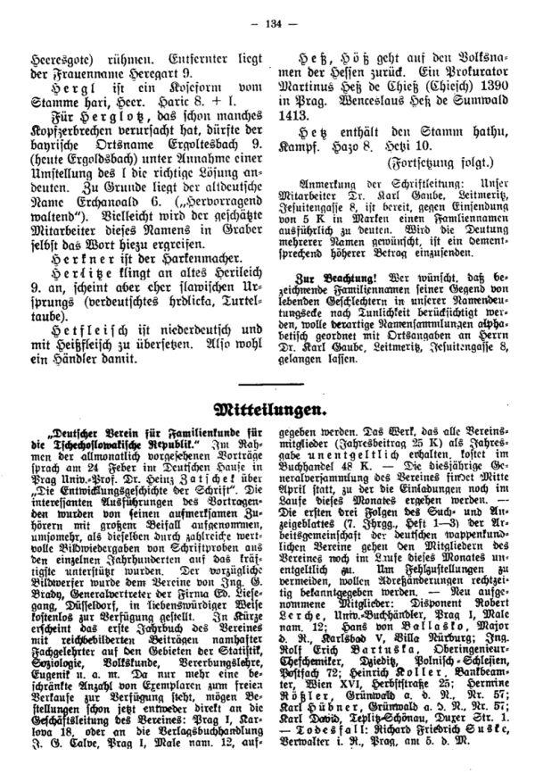 Mitteilungen - 1