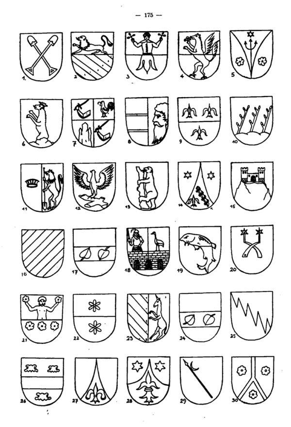 Wappenschilder Egerer Geschlechter - 2