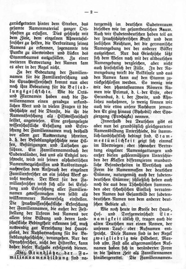 Die deutschen Familiennamen in Böhmen und Mähren - 2