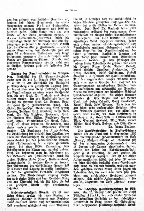 Die tschechische Familienforschung in Böhmen