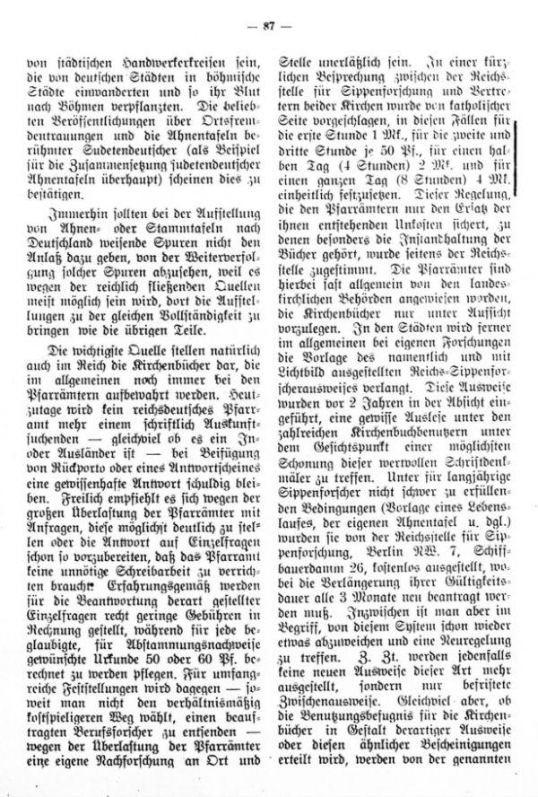 Über Nachforschungen in reichsdeutschen Schriftdenkmälern - 2
