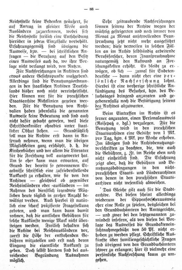 Über Nachforschungen in reichsdeutschen Schriftdenkmälern - 3