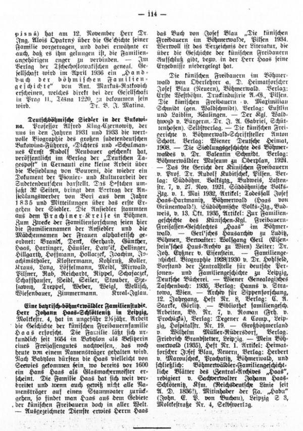 Deutschböhmische Siedler in Bukowina - Eine bayrisch-böhmerwalder Familienstudie (Haas)