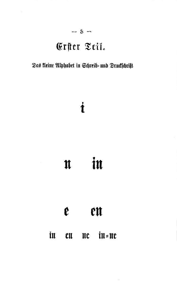 Deutsche Fibel -Das kleine Alphabet in Schreib - und Druckschrift