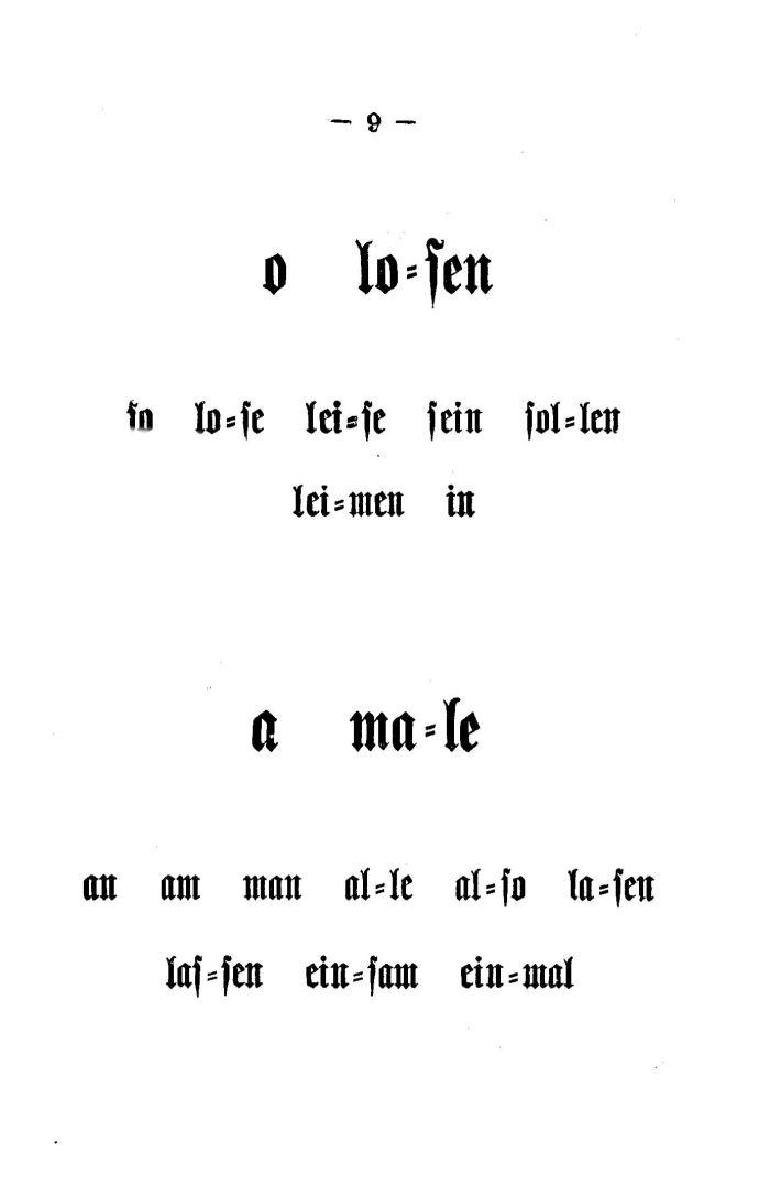 Deutsche Fibel -o / a (Druckschrift)