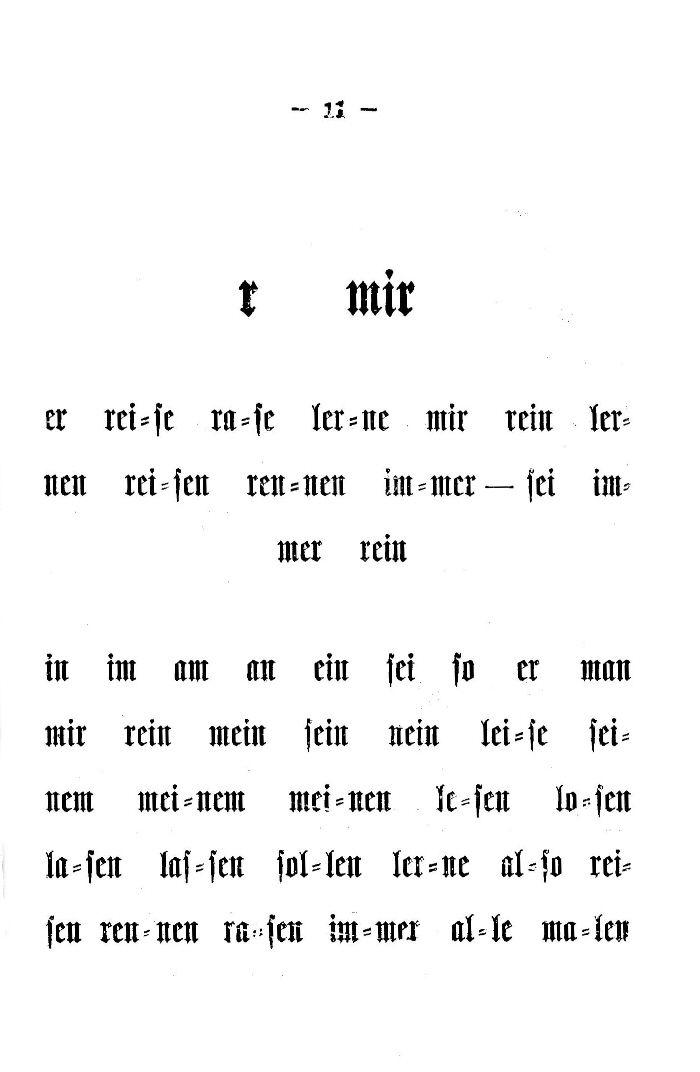 Deutsche Fibel -r (Druckschrift)