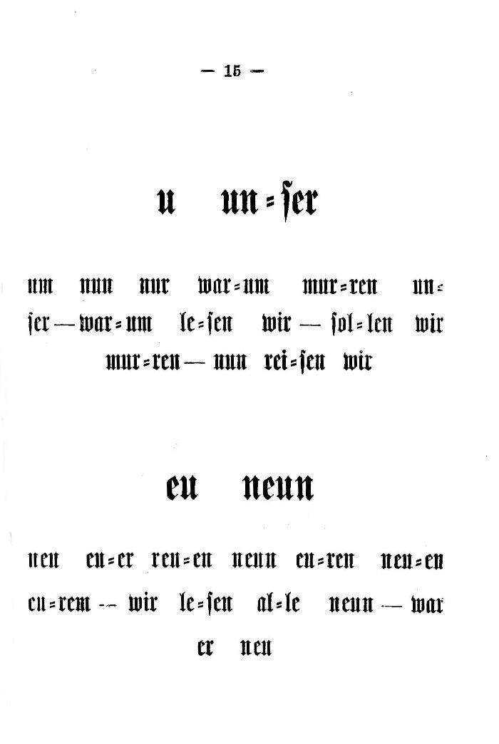 Deutsche Fibel -u / eu (Druckschrift)