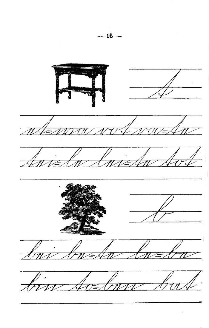 Deutsche Fibel -t / b (Schreibschrift)