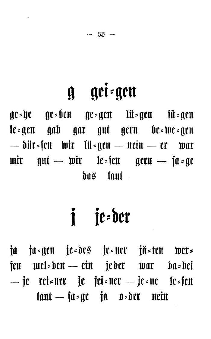 Deutsche Fibel -g / j (Druckschrift)
