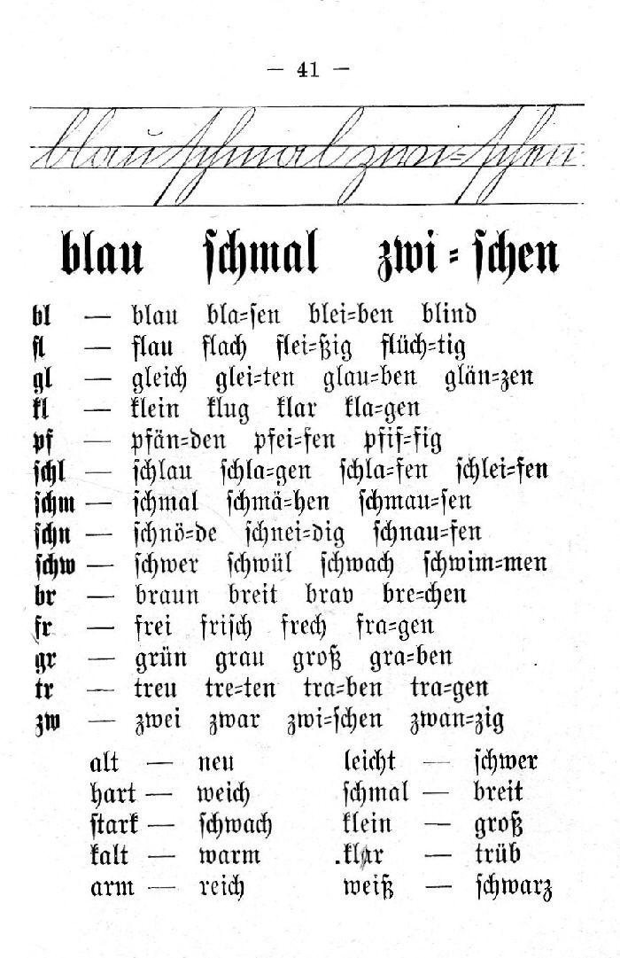 Deutsche Fibel -Druckschrift