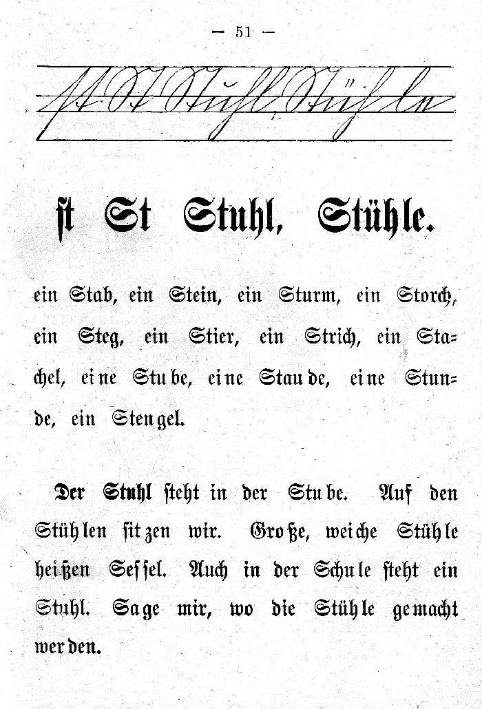 Deutsche Fibel -St (Schreibschrift /Druckschrift)