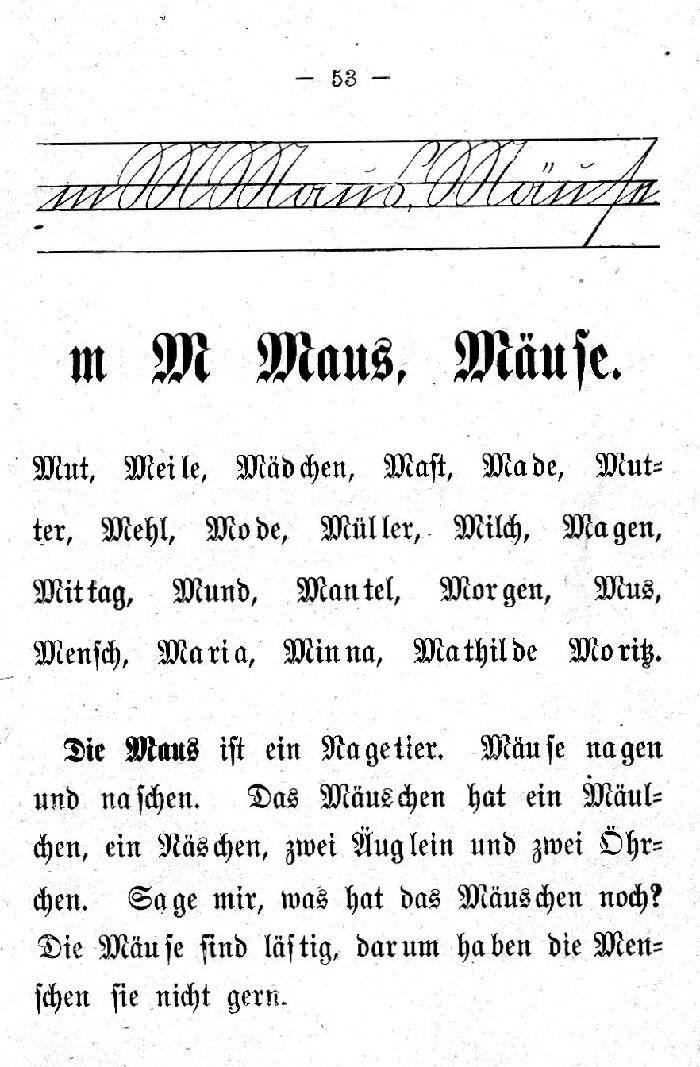 Deutsche Fibel -M (Schreibschrift /Druckschrift)