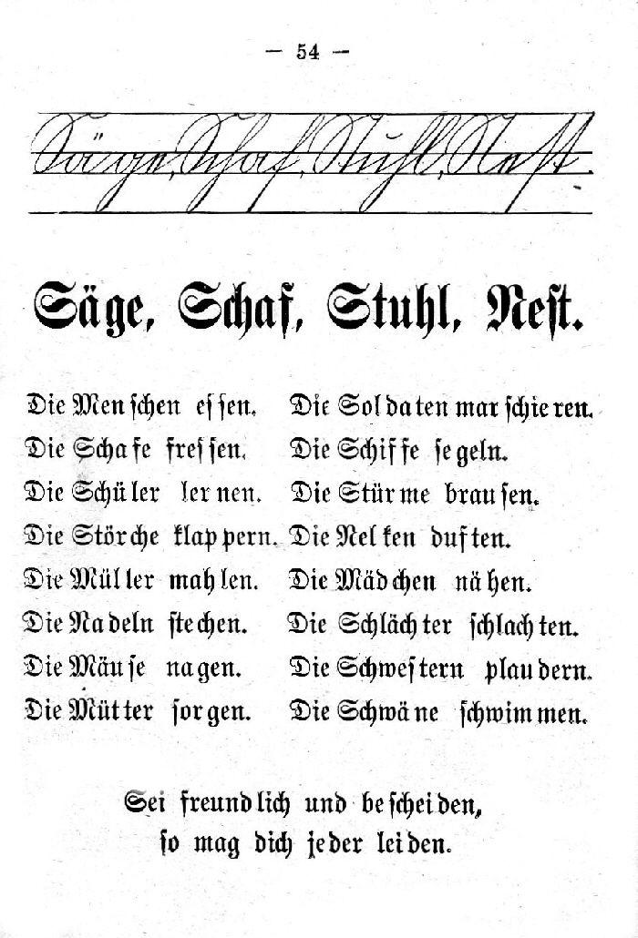 Deutsche Fibel -S - Sch - St (Schreibschrift /Druckschrift)