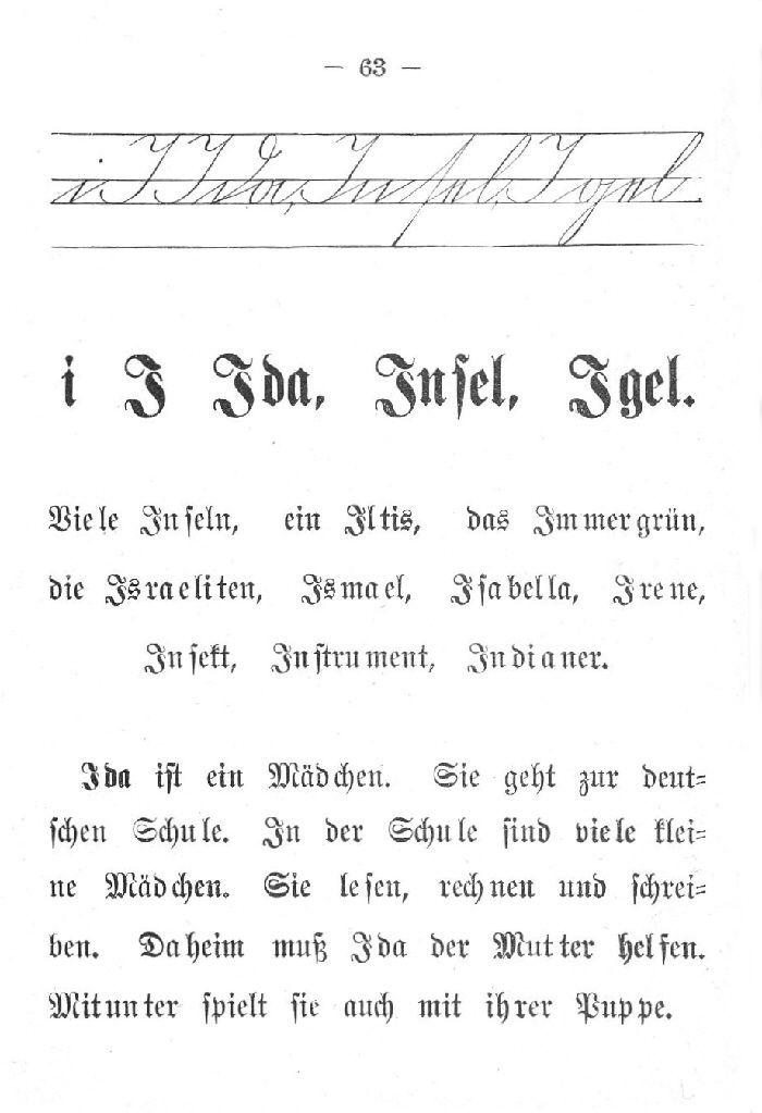 Deutsche Fibel -I (Schreibschrift /Druckschrift)