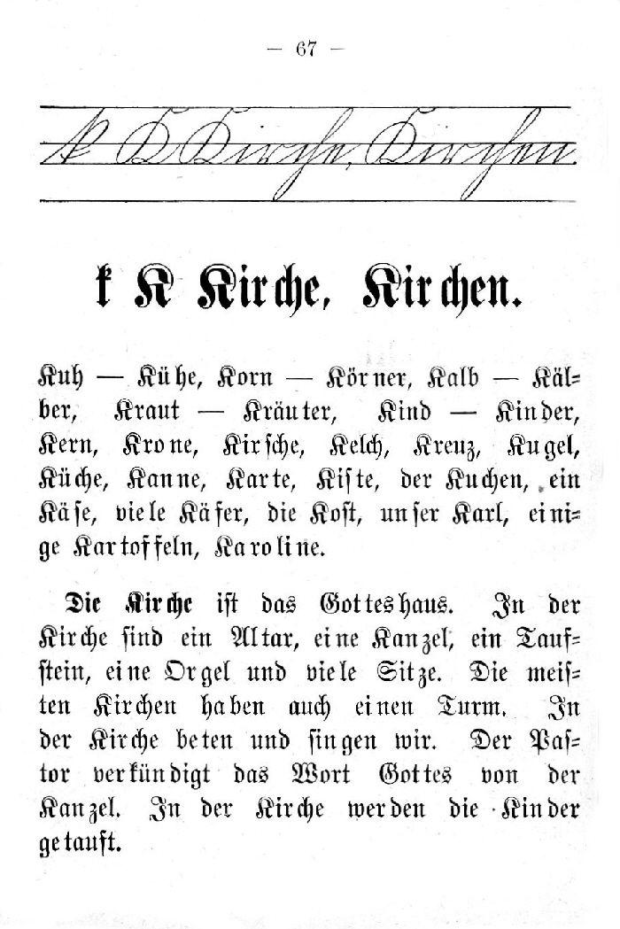 Deutsche Fibel -K (Schreibschrift /Druckschrift)