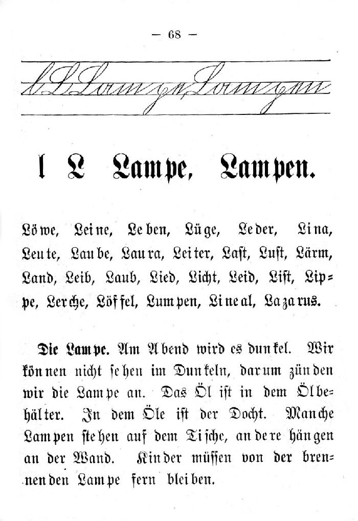 Deutsche Fibel -L (Schreibschrift /Druckschrift)