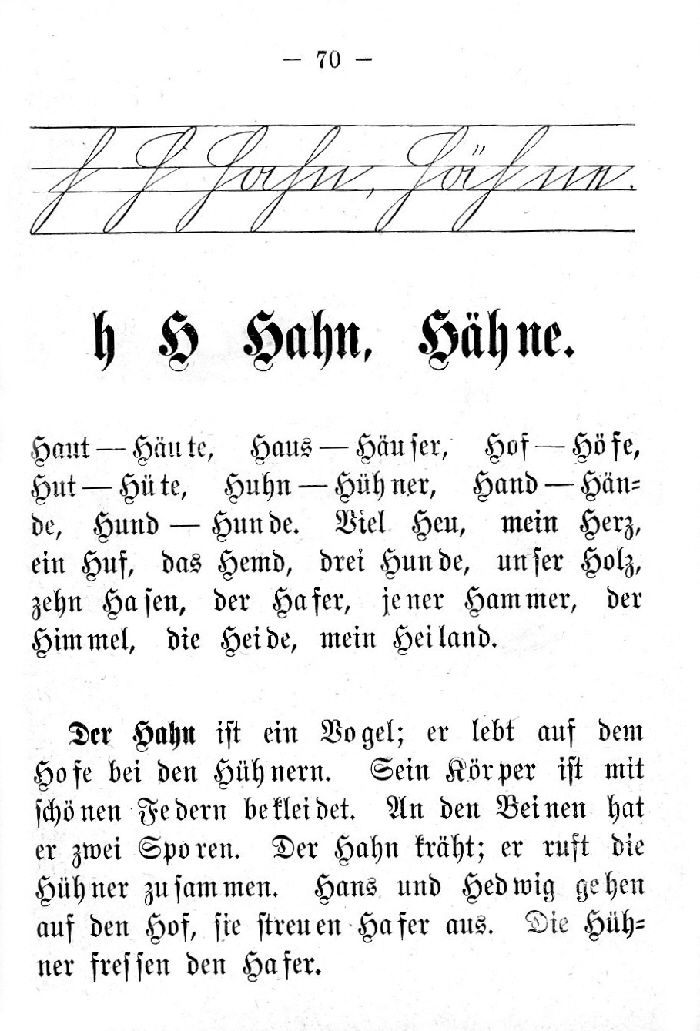 Deutsche Fibel -H (Schreibschrift /Druckschrift)