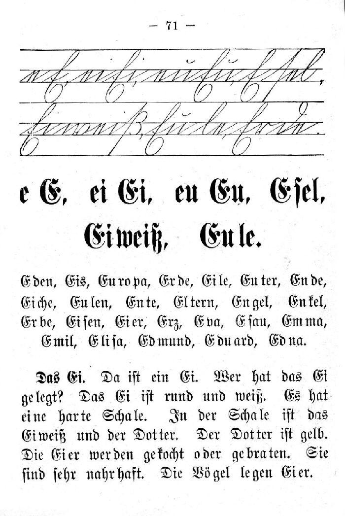 Deutsche Fibel -E (Schreibschrift /Druckschrift)