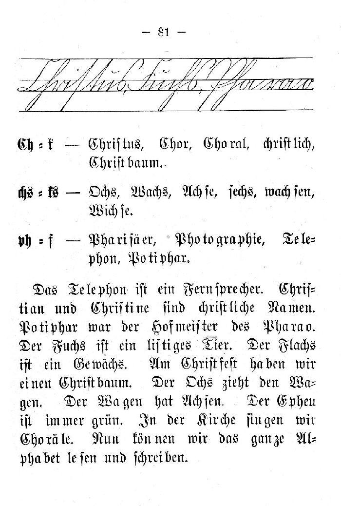 Deutsche Fibel - (Schreibschrift /Druckschrift)