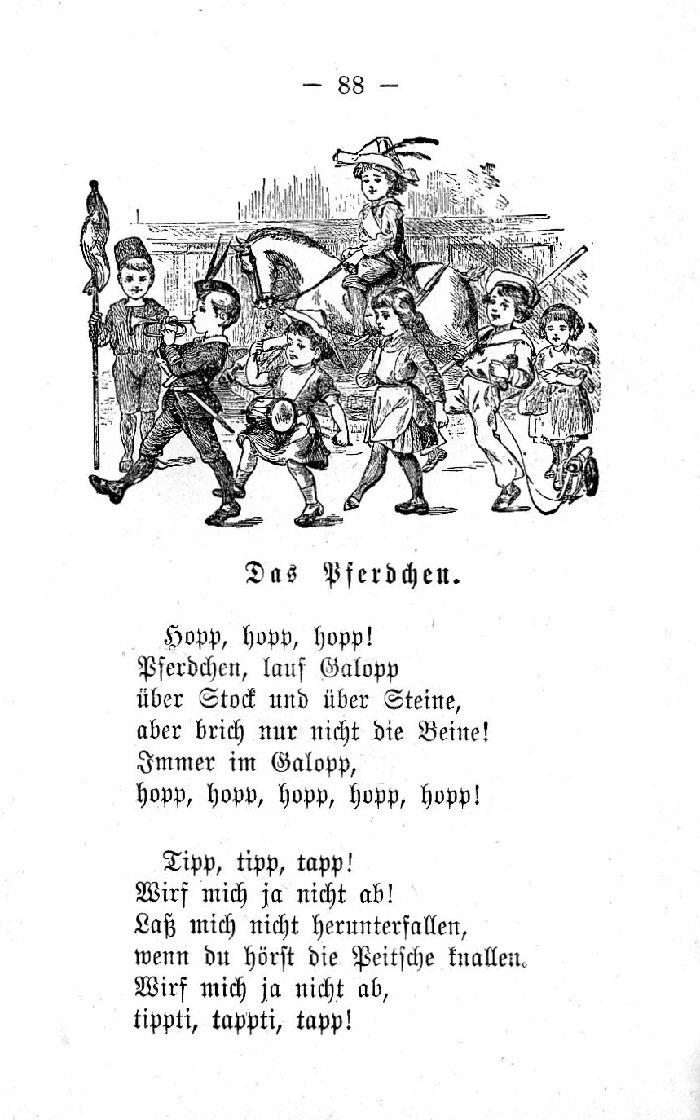 Deutsche Fibel -Das Pferdchen