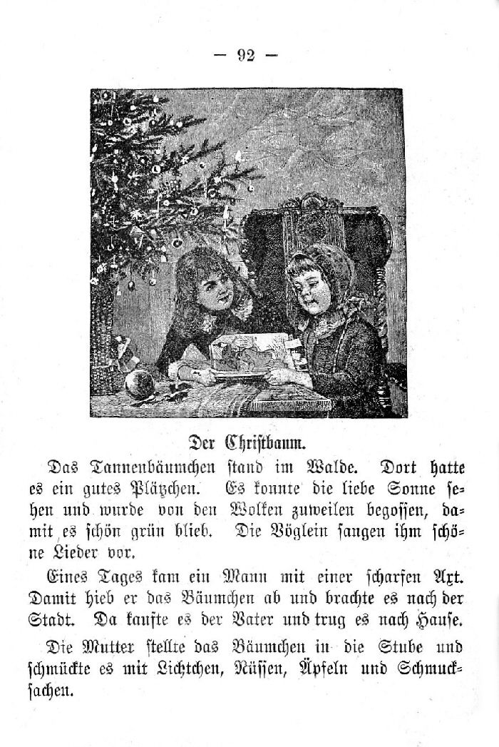 Deutsche Fibel -Der Christbaum