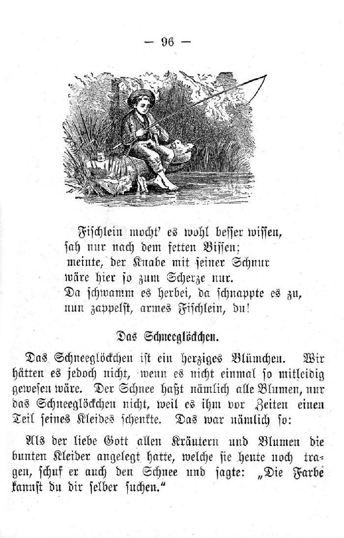 Deutsche Fibel -Das Schneeglöckchen