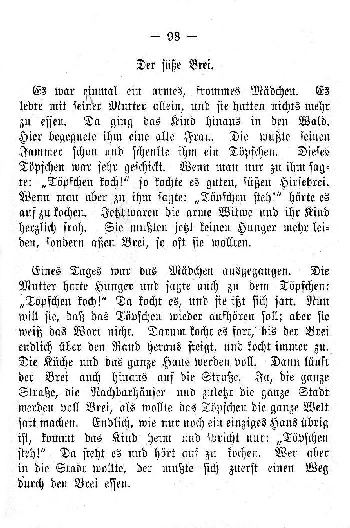 Deutsche Fibel -Der süße Brei