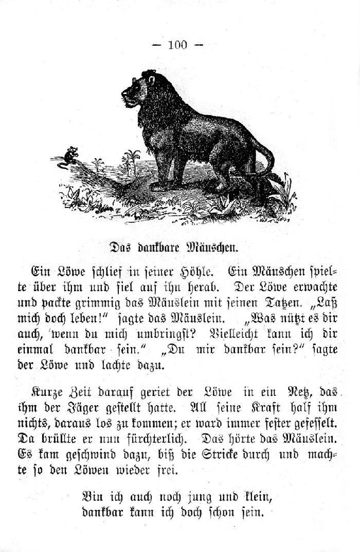 Deutsche Fibel -Das dankbare Mäuschen