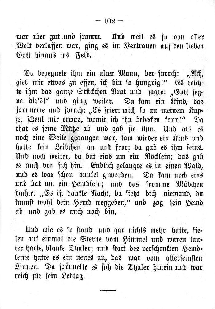 Deutsche Fibel -Die Sterntaler