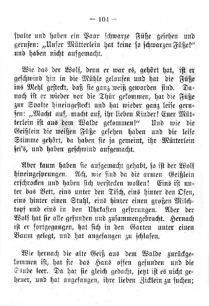 Deutsche Fibel -Die sieben Geißlein