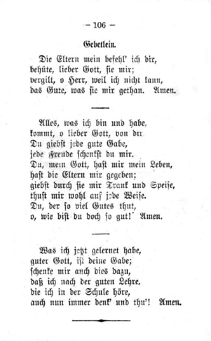 Deutsche Fibel -Gebetlein