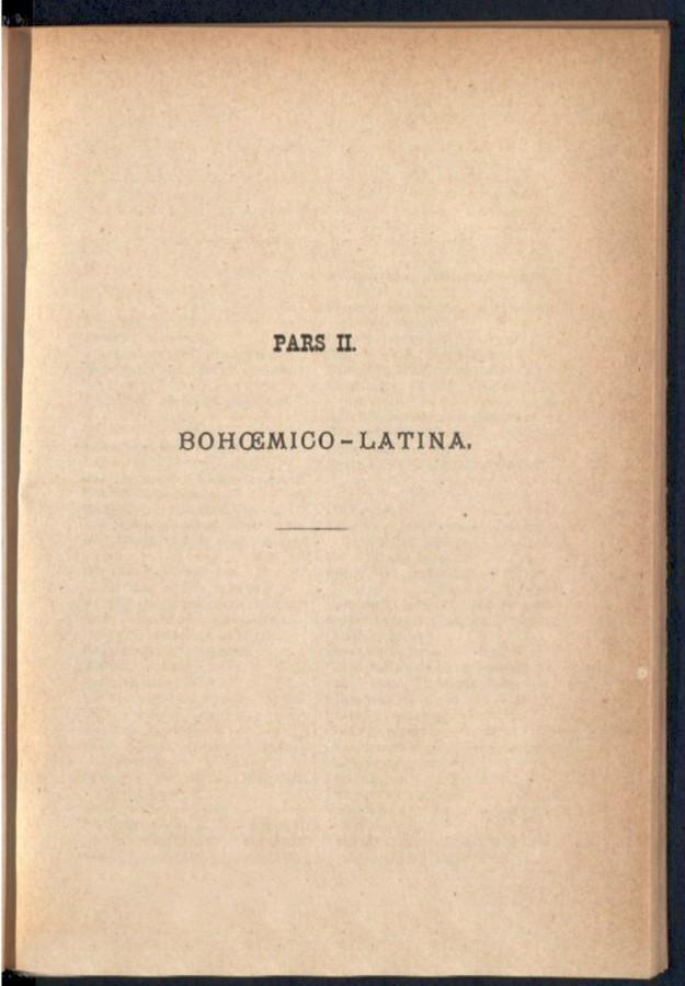Teil 2 Böhmisch - Latein